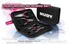 189000 HUDY Micro RC Pliers Set + Carrying Bag