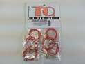 130/6 TQ Superflex 2 18ga. Leadwire with guide clips 6 PK. Orange