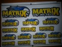 MXST16YB MATRIX YELLOW / BLUE CAR STICKERS (16)