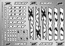 397360 XRAY RX8 Sticker for Body - White