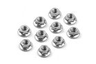 960240 High-quality M4 nut with serrated flange. Set of 10