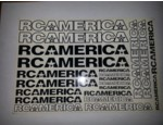 RCA301 RCAMERICA STICKERS BLACK 7 WHITE (20) (RCA301)
